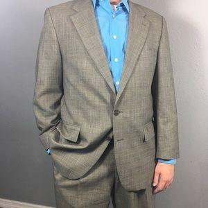 CHAPS by Ralph Lauren tan two button suit size 44R